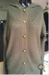 cardigan 100%Cotton tricoté par couleur pure pour des femmes/dames