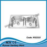 Раковина кухни нержавеющей стали (RS2341)