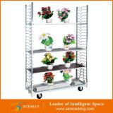 Bildschirmanzeige-Blumen-Laufkatze-dänischer Ineinander greifen-Laufkatze-Garten-Hilfsmittel-Wagen