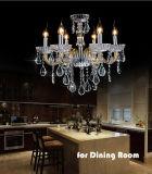 Form-Ausgangs-/Hotel-Goldkristalldecken-Leuchter-Beleuchtung, Goldglasgefäß mit Absinken des Kristall-K9