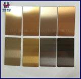 Or de Rose, or de Brown, Brown, plaques décoratives colorées attrayantes d'acier inoxydable