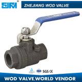 Válvula de esfera cheia em dois sentidos Wcb/aço inoxidável do furo 304/316