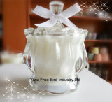 Jarrones de cristal blanco hecho a mano exquisito para las velas