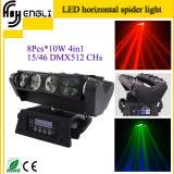 8 iluminación principal móvil de la etapa de la araña de los ojos 10W LED