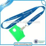 School ID Card Holder를 가진 높은 Quality Customized Blue Lanyard