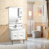 Armário moderno da vaidade do banheiro do PVC do estilo com armário do espelho