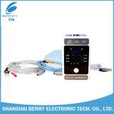 Moniteur patient ECG (électrocardiographe), heure (fréquence cardiaque), NIBP (tension artérielle non envahissante), SpO2, P.R. (fréquence du pouls), Temp (température corporelle)