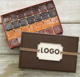 Boîte-cadeau de papier de chocolat de cylindre de qualité