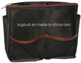 2 in 1 Black Mens Travel Toiletry Mesh Cosmetic Bag Collection Pouch