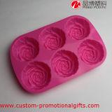 주문을 받아서 만들어진 6개의 구멍 꽃 패턴 실리콘 팬케이크 형