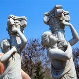 백색 금성 및 Angle Marble Statue Sculpture