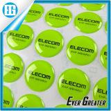 Оптовый стикер эпоксидной смолы купола массового производства с логосом и типом