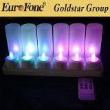 Luz del LED con la recarga teledirigida libre fácilmente en base