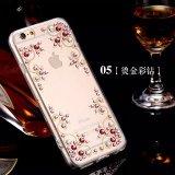 Fabricante mayorista brillantes de lujo de la caja del teléfono móvil del diamante TPU de la cubierta, la caja del diamante para el iPhone 6s