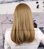 Birnen-Blumen-Kopf-lange gerades Haar-geneigte Knall-Perücke 2016
