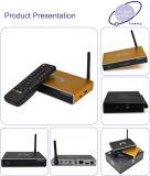Intelligenter Fernsehapparat-Kasten mit Kasten Kodi O 4k Aluminium-IPTV des Indien-Kanal-IPTV Kasten 16.0 mit