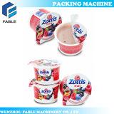 Máquina de enchimento da selagem do copo giratório do iogurte