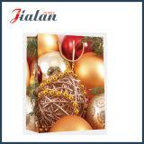 Bolsa de papel laminada brillante del regalo de la mano de la manera de la Navidad del papel de arte