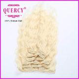 Migliore clip di capelli di vendita dei capelli di Remy del Virgin in clip disponibile dell'essere umano di Remy di colori stabiliti completi della testa di estensioni