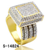 De Nieuwe Ontwerpen van de Juwelen van de manier de Ringen van 925 Zilveren van Hip Hop Vrouwen van de Juwelen