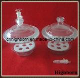 Dessicateur transparent en verre de Borosilicate de laboratoire avec la plaque de porcelaine