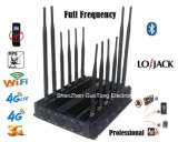Frequenza ultraelevata Lojack 2g 3G 4G Signal Jammer di VHF registrabile di All Bands WiFi GPS
