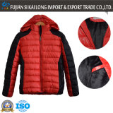 Fashion Design's Men Winter Warm gewatteerde jas met afneembare kap