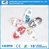 Schöne Nylonflechte, die für Beleuchtung USB-Kabel überträgt