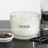 Candela pura della soia di Scentefd in vaso di vetro nero con il coperchio nero