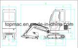 Vendita calda 2015 escavatore idraulico del cingolo da 1.8 tonnellate