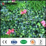 UV защищенная пластичная искусственная зеленая загородка листьев сада