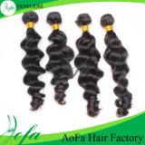 Prolonge de trame brésilienne de cheveu de Vierge de cheveux humains d'onde de corps de pente de Guangzhou Aofa 7A