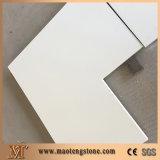 De populaire Zuivere Witte Bovenkanten van de Ijdelheid van de Badkamers van de Steen van het Kwarts