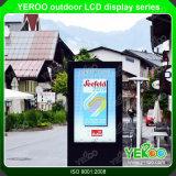 屋外のデジタル表記の表示タッチ画面のキオスク