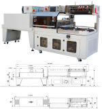 PET Film Double Side Shrink Packaging Machine für Simmous Bed