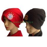 Chapéu vermelho da alta qualidade elegante do projeto e preto feito sob encomenda do velo do teste padrão do chapéu do Beanie do velo do bordado que faz a fábrica para a boa venda
