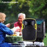 Haut-parleur portatif de projection de Digitals DEL de système en plastique de PA avec la batterie