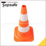 Cono de la seguridad del LDPE los 50cm con la funda reflexiva del 10+9cm