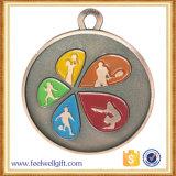 卸し売り円形2次元コードの柔らかいエナメルはメダルを予約した