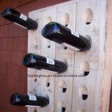Wand-Wein-Flaschen-hölzerne Bildschirmanzeige für Hauptdekoration-Wein-Regal