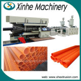 Extrudeuse ondulée de plastique de pipe de la production Line/225-500mm de pipe de double mur de PE/PVC