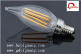 bombilla del filamento LED de la vela de 3W E14, Ce/RoHS/UL