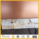 Rosa-/Gelb-/weißerquarzit-Ledgestone gestapelter Wand-Stein-Furnier-Blattkultur-Stein