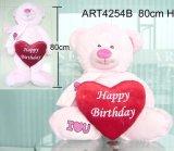Giocattolo dell'orso di colore rosa della decorazione di buon compleanno