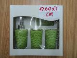 Kleur-verglaasd Ceramisch 4PCS Bad dat met de Verpakking van de Doos van de Gift wordt geplaatst