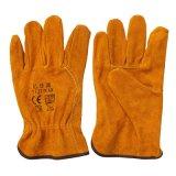 Flügel-Daumen-Kuh-aufgeteiltes Leder-industrielle Arbeits-Handschuh-Handschützende Fahrer-Handschuhe