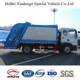 euro de 12cbm Dongfeng carro inútil de adaptación del compresor de la colección de basura de 4 barriles