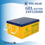 Bateria cobrando alternativa do gel da bateria dos sistemas 24V 120ah de bateria solar
