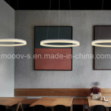 Lumière acrylique s'arrêtante simple moderne de pendant de la boucle décorative DEL de cycle