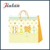 Personalizar el papel de marfil 3D y el bolso de papel del regalo de las compras del bebé del brillo